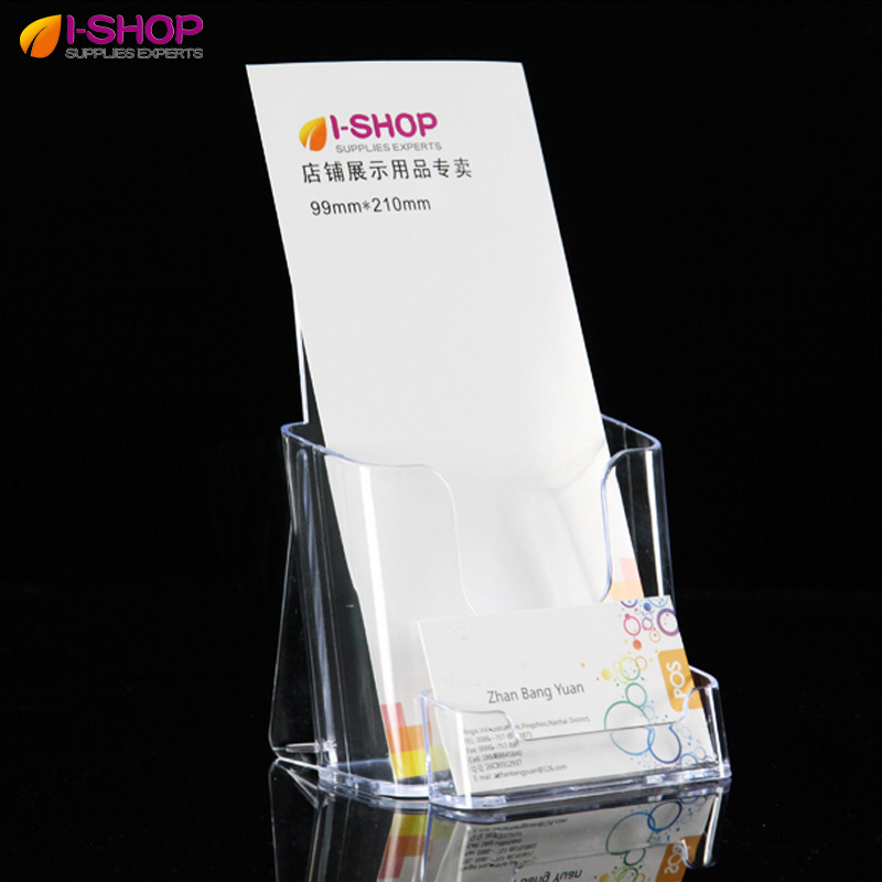 Plastic Flyer Literature Holder Sets Tri fold Single Pocket Leaflet ...