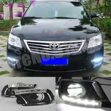 Free shipping 1:1Replacement Daytime running light LED Daytime Day Fog chrome Light Lamp DRL Toyota Camry Aurion 2009-2011