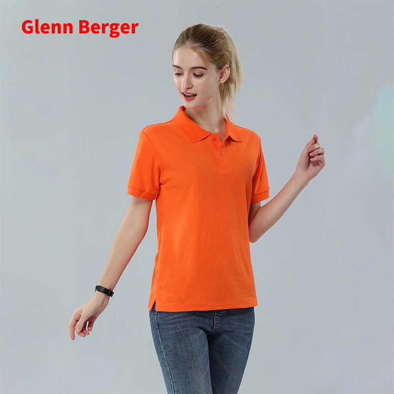 Glenn Berger 2019 New Summer Polo Shirt Women Casual Short Sleeve Slim Polos Mujer Shirts Plus Size Female Cotton Polo Shirt top