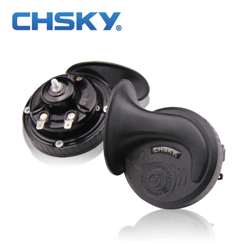 CHSKY loud car klaxon horn 12V car styling parts for vespa loudnes 110db waterproof dustproof Teflon coating technology car horn