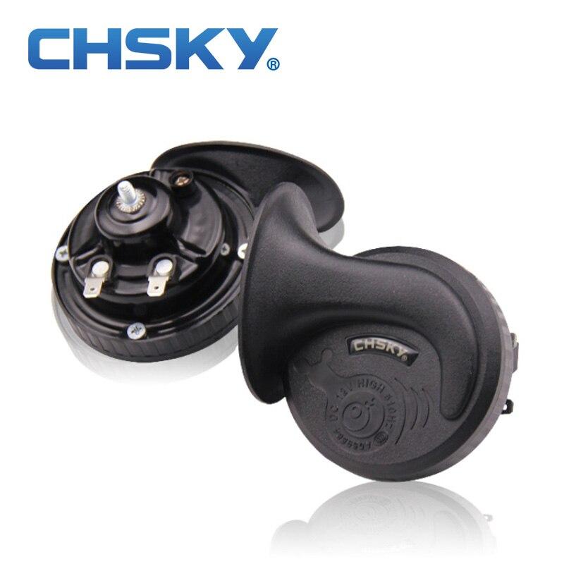 CHSKY loud car klaxon horn 12V car styling parts for vespa loudnes 110db waterproof dustproof Teflon coating technology car horn(China)