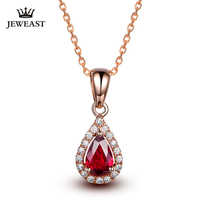 Natural Ruby 18K Pure Gold Pendant Real AU 750 Solid Gold  Upscale Trendy Classic Party Fine Jewelry Hot Sell New 2019