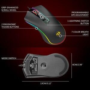 Image 5 - Redragon M711 FPS COBRA Mouse Da Gioco Pixart 3360 Sensore Ottico di Gioco 16.8 Milioni di Chroma RGB A Colori Retroilluminato Wired 24000 DPI FPS