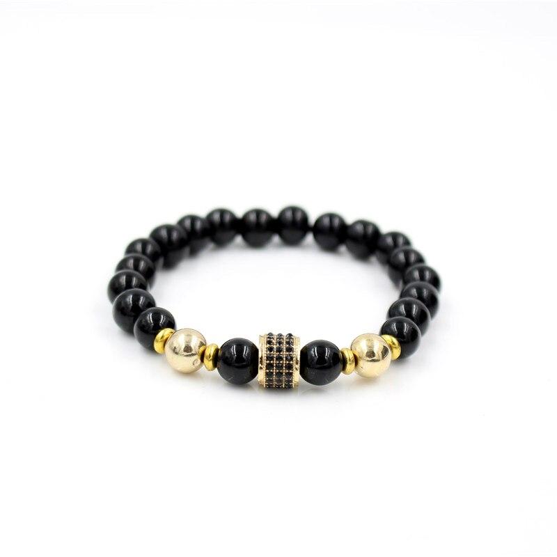 Чёрный оникс камень браслеты