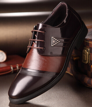 Luxury Fashion Men 39 s Dress Leather Shoes Plus Size Men Oxford Shoes New 2019 Lace Up Men Flats Leather Casual Shoes Black Brown in Formal Shoes from Shoes