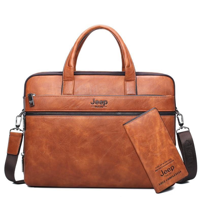 High class Leather briefcases men/'s bags men messenger bag laptop briefcase