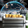 3D Cartoon Star Wars Wallpaper For Kids Room-Free Shipping 3D Wall Stickers For Kids Rooms