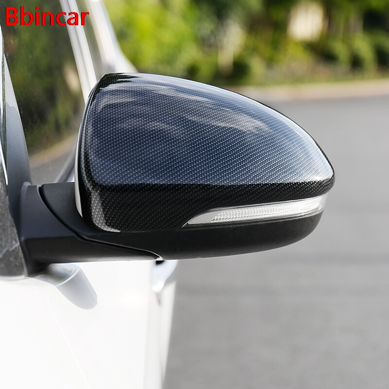 Bbincar ABS Carbon Fiber Color 2pcs Car Exterior Side Rearview Mirror Cover Molding Trim Styling For Hyundai Tucson 2016 2017