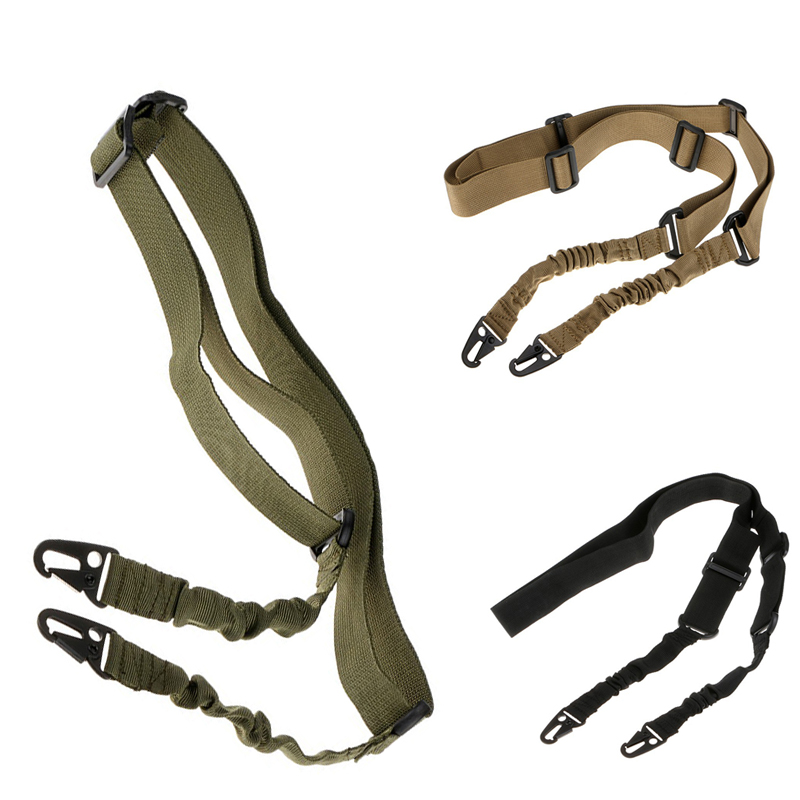Military Army Airsoft Two Point Gun Sling Strap System Hunting Accessories Tactical 2 Point Gun Strap Rifle sling Black Green