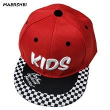 MAERSHEI niños chicos casquillo del sombrero gorra de béisbol Casual negro  visera plana sombrero niñas tendencias Snapback Bones. 971c143ce72
