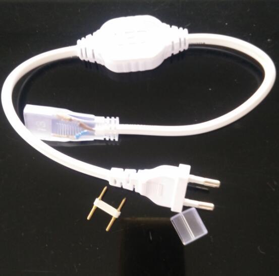 Doble fila 2835 5630 SMD 5050 tira de led de macho 6A impermeable (PCB anchura: 12mm) led 220 v tira LED Accesorio fuente de alimentación enchufe Bombillas LED H1 súper brillantes de alta potencia H3 10-SMD 5630 luces antiniebla LED para coche luz de giro luz de conducción blanco ámbar rojo D45