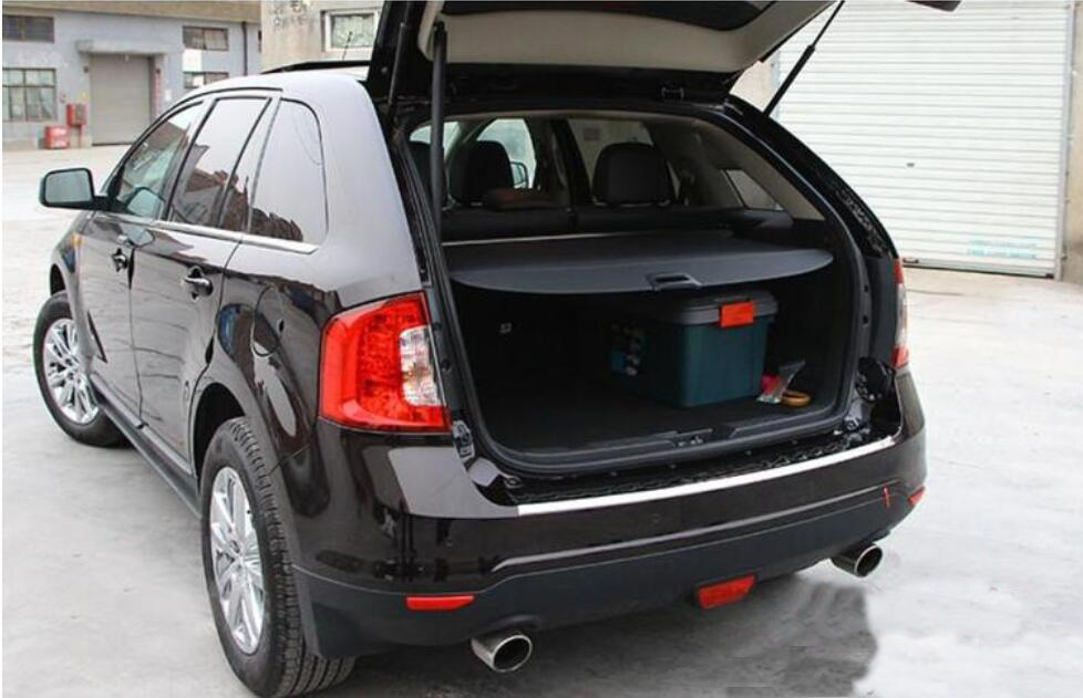 Car Rear Trunk Security Shield Cargo Cover For Ford Edge   Electric Switch Tail Gate Shelf Shade Trunk Retractable In Rear Racks Accessories From