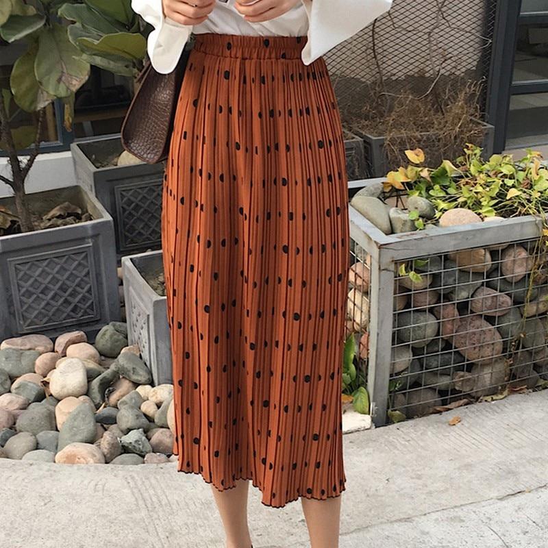 KYMAKUTU แฟชั่นกระโปรงชีฟอง 2018 - เสื้อผ้าผู้หญิง