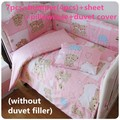 Promotion! 6/7PCS  kids baby Bedding sets baby girl bedding crib bumper sets Comforter Cover cot cuna, 120*60/120*70cm