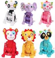 6 Style Cute Animal Lion Panda Monkey Elephant Anti Lost Backpack Kids Baby Kindergarten School