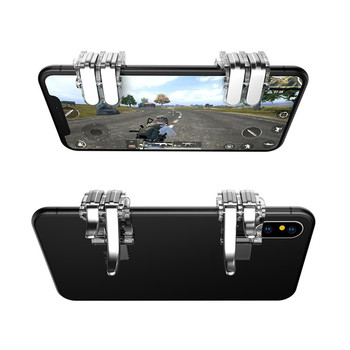 Metal PUBG Gamepad mobilna kontrola wyzwalania telefon komórkowy Gamepad Fire Gaming Shooter do telefonu Gamepad Joystick