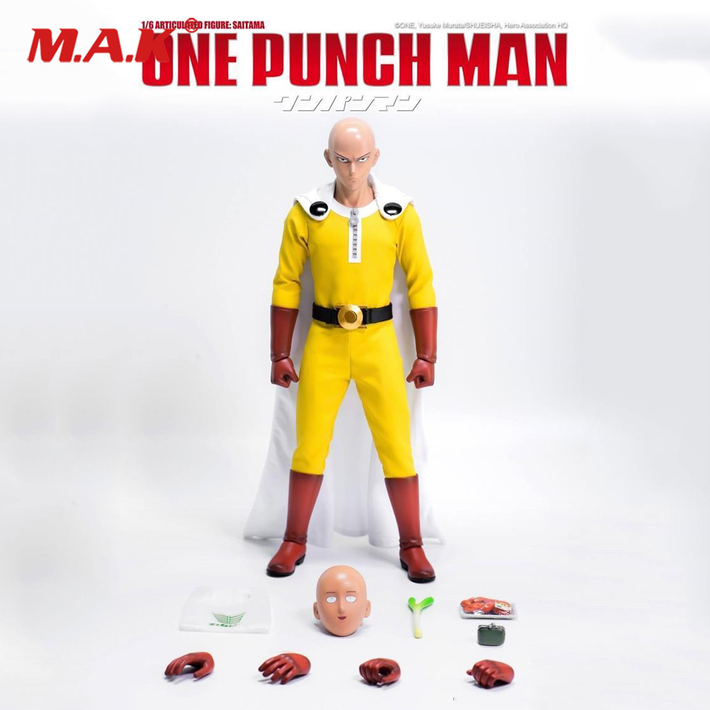 3Z0026 1/6 Scale Full Set Figure One Punch Man Saitama Regular Ver. Figure Model for Collection Gift figure driving racer maintenance workers 1 18 2pcs set