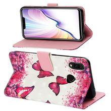 For Huawei P Smart Plus Mate 20 Honor Note 10 8X Enjoy Max 7S 7 P9 Lite Mini Flip Case Patten Beautiful Floral Butterfly P03Z