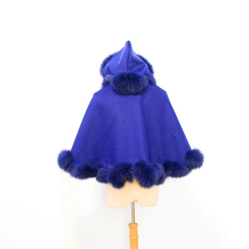 Livraison gratuite enfant (age3-5) longueur 40cm torsadé fourrure avec capuche cachemire cape - 5