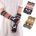 Women Fingerless Knitted Gloves Winter Warm Long Arm Warmer Mittens Gloves -Y107