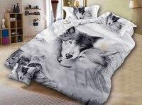 3D wolf grau twin könig königin bettwäsche bettbezug set bettwäsche set|duvet cover set|bedding setcover set -