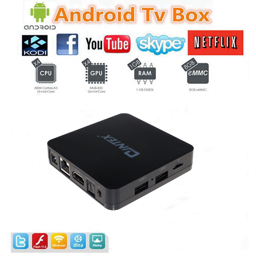 Android TV BOX Amlogic S805 Quad Core Android 4.4 Kitkat, google android4.4 4K Media player with set top box 1GB RAM 8GB ROM