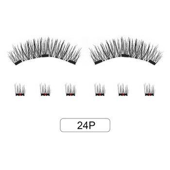 Genailish 8pcs 3D Magnetic Eyelashes Mink Lash Full Strip Lashes False Eyelash With Tweezers Double Magnet Fake Lash  SCT-W-602 5
