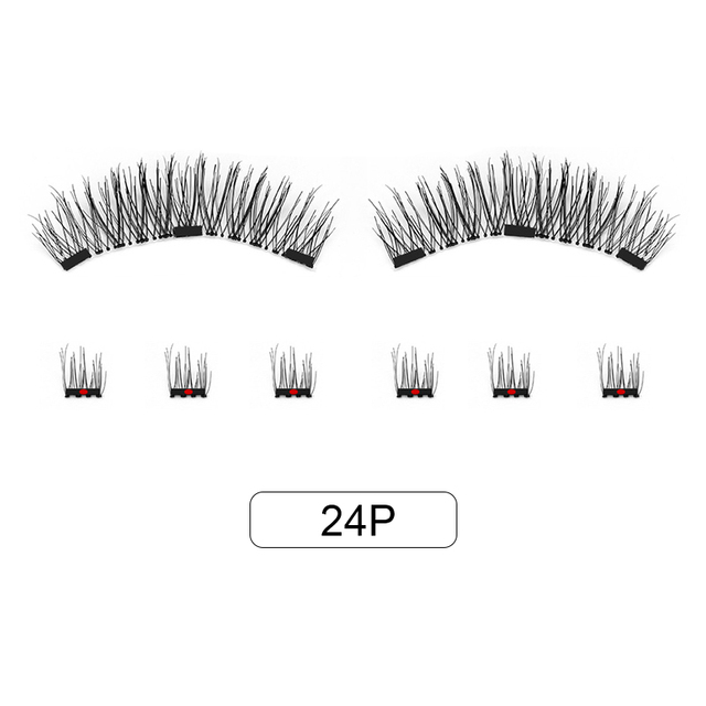 Genailish 8pcs 3D Magnetic Eyelashes Mink Lash Full Strip Lashes False Eyelash With Tweezers Double Magnet Fake Lash  SCT-W-602 4