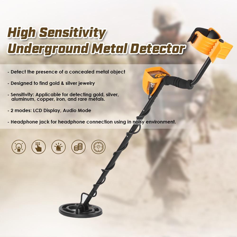 KKmoon Professional Metal Detector Underground LCD Gold Detector Treasure Hunter Adjustable Sensitivity Waterproof Search Coil