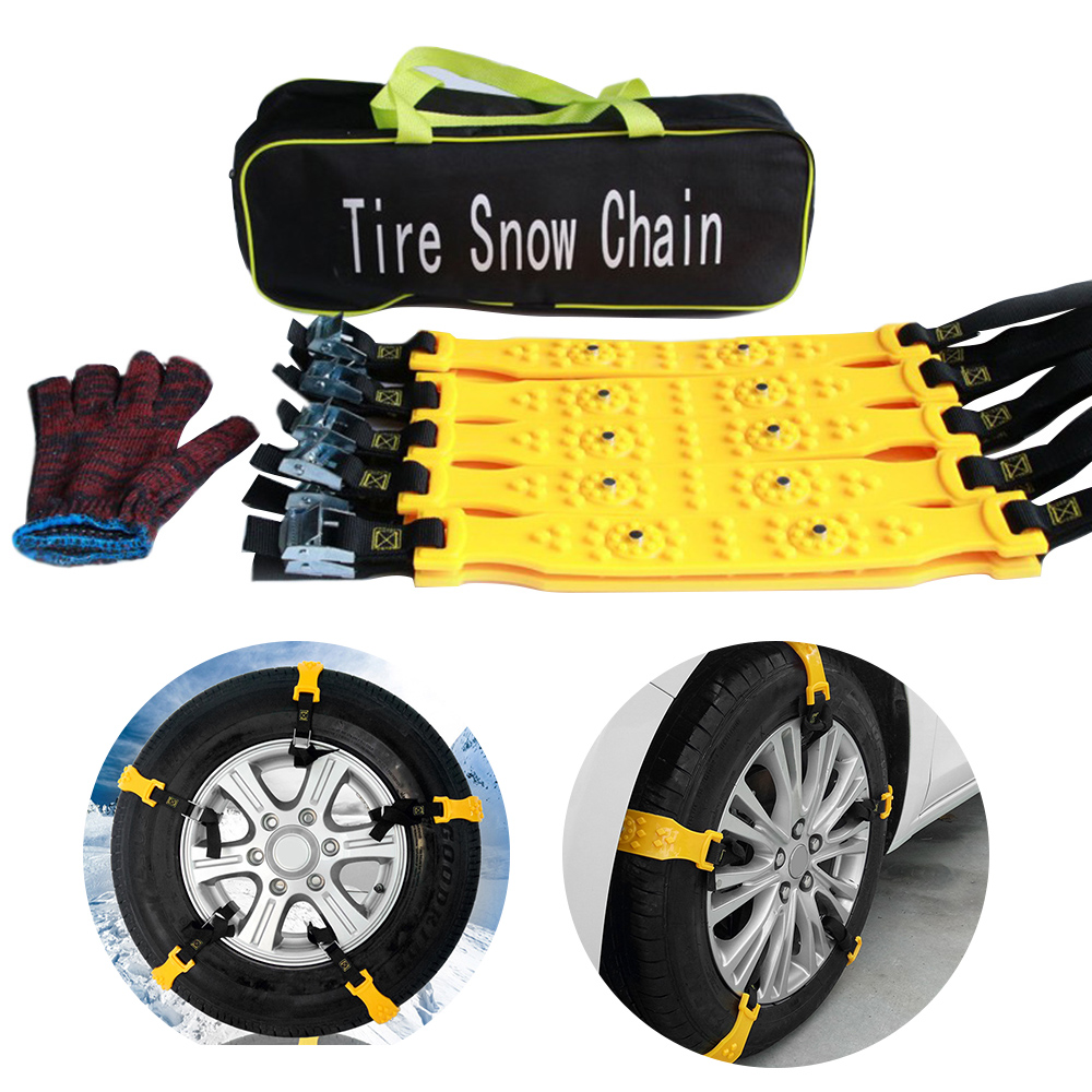 3pcs Car Truck Van Snow Tire Chains Belt Beef Tendon Wheel Antiskid TPU Chain