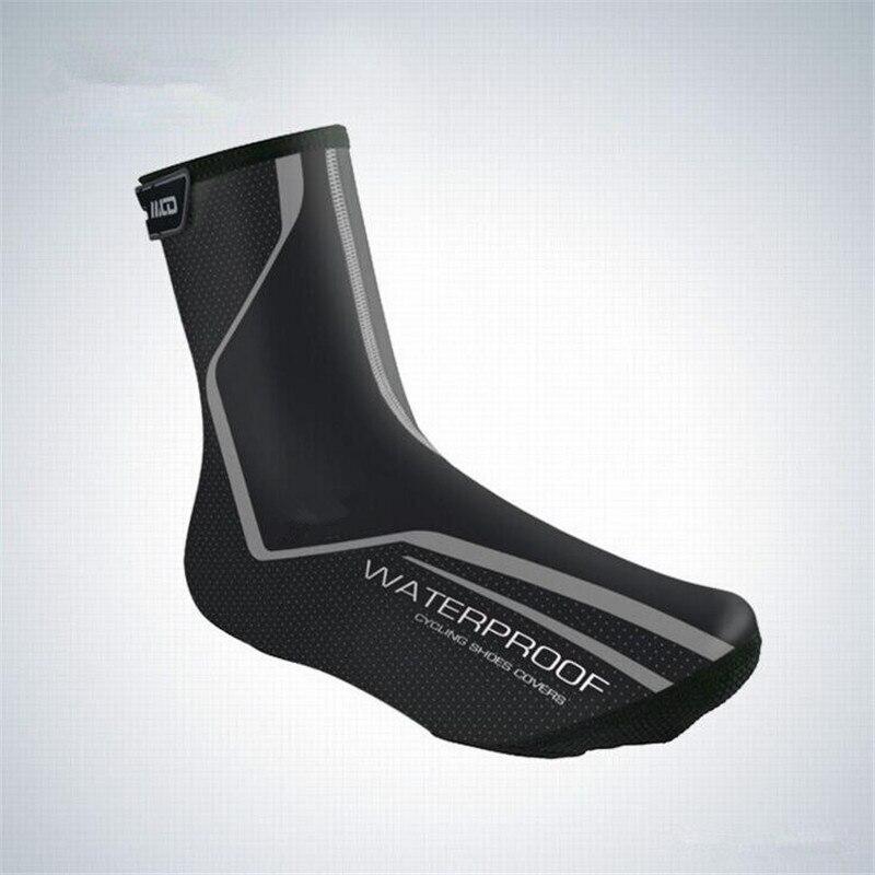 где купить 2018 New Bicycle Overshoes MTB Bike Road Ciclismo Boot Cover Cycling Shoe Cover Reflective Waterproof Windproof Warm Shoe Covers по лучшей цене