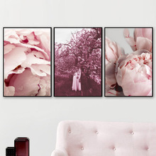 Dream Girl Flower Tree Wall Art Canvas Painting Nordic Posters And Prints Pop Pictures For Living Room Bedroom Decor