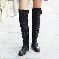 Newest 2017 Women Boots Pointe Toe Fashion Special Sexy Over The Knee Solide Side Zip Winter New Products Mix colors Women Shoes