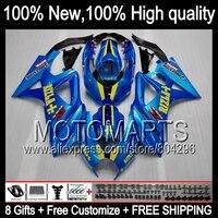 Комбинезоны для Suzuki GSX R1000 07 08 rizla синий GSXR 1000 07 08 89JK6 GSX R1000 GSXR1000 K7 GSXR 1000 Gloss синий 2007 2008 обтекателя