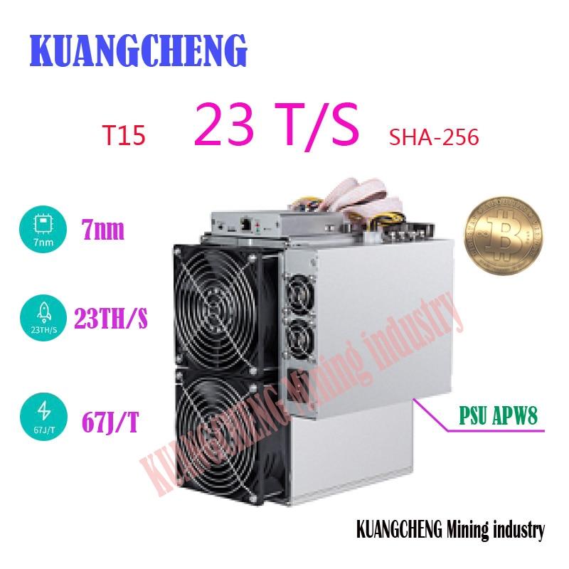used 7nm Bitecoin Miner AntMiner T15 23T BCH BTC Miner Better Than BITMAIN S9 S9i S9j Z9 Mini WhatsMiner M3 M3x Avalon 841 851(China)