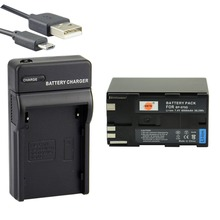 DSTE BP-970G Li-Ion + UDC25พอร์ตUSBชาร์จสำหรับCanon XL H1S H1A XF305 XF300 XF105 XF100 XHG1S XH A1S XHG1กล้อง