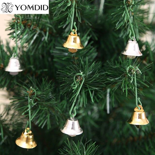 30pcs xmas metal bells small bell christmas tree ornaments christmas decoration pendants bells home party decorations - Small Metal Christmas Tree