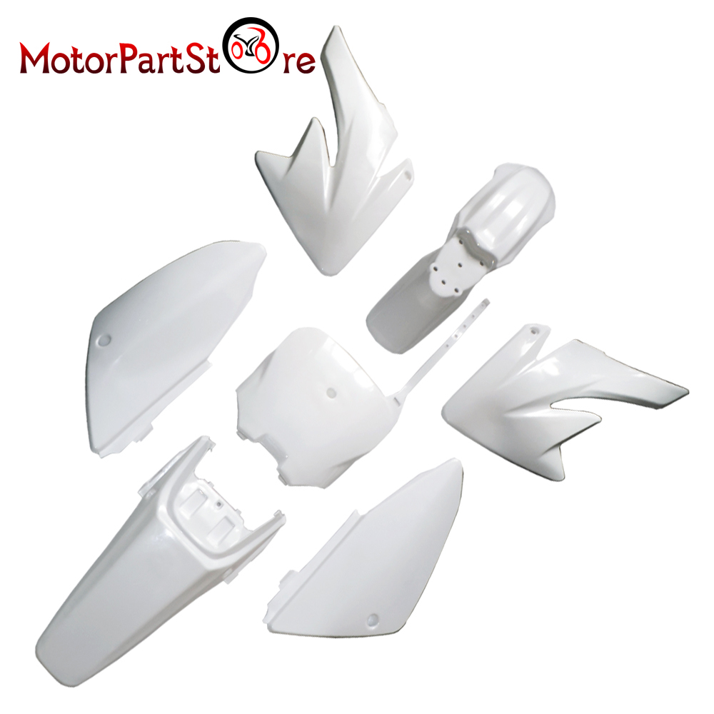 Plastic Body Fender Shell Cover Guard Fairing Kit for Honda CRF70 CRF 70 Motorcycle Pro Trail Pit Dirt Bike Racing Accessories * front plastic number plate fender cover fairing for honda crf100 crf80 crf70 xr100 xr80 xr70 style dirt pit bike