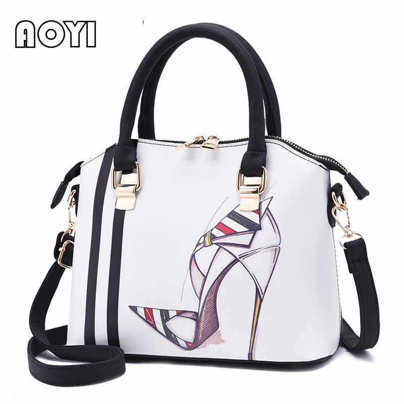 aeb368b15db8 AOYI модные женские туфли сумки женские сумки стильный Топ ручкой PU  кожаная сумка через плечо сумка