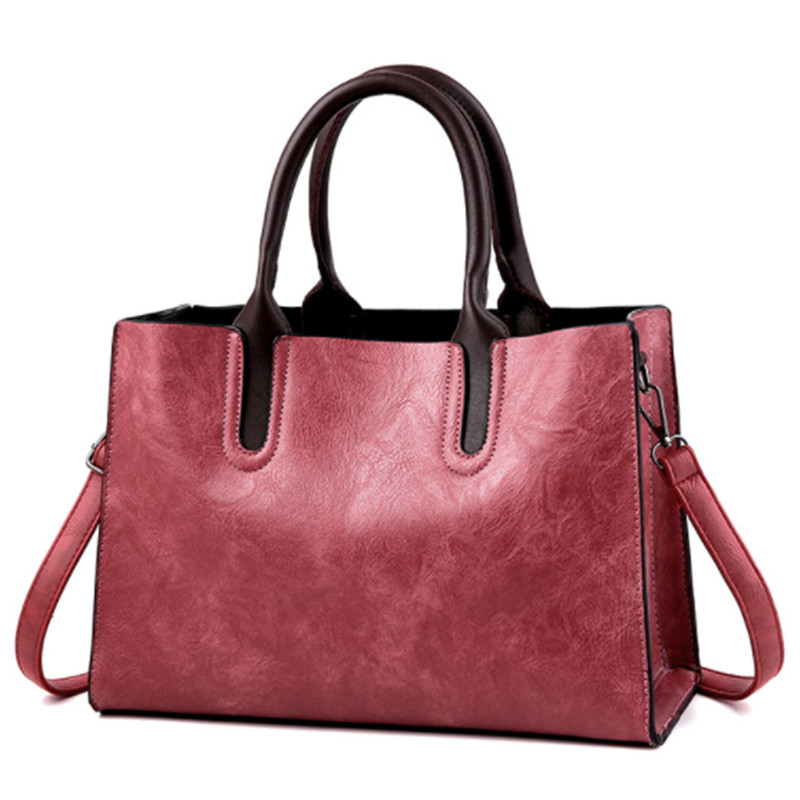 Luxury Women Messenger Bags Designer Woman Bag 2019 Brand Leather Shoulder Bags Tote Casual Solid Bag bolsos mujer in Top Handle Bags from Luggage Bags