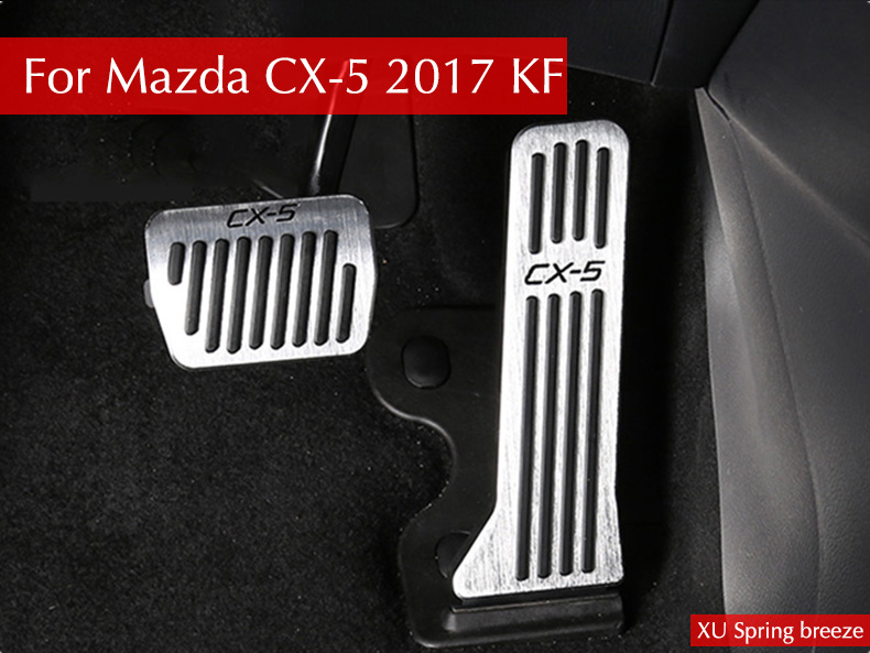 Car Styling Refit Accelerator Oil footrest Pedal Plate Clutch Throttle Brake Treadle For Mazda CX-5 CX5 2017 2018 AT MT LHD RHD