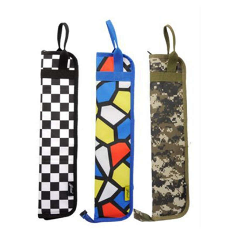 High quality portable waterproof drum stick soft bag drumsticks rack gig cover case 8 color backpack with should strap cute gift
