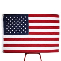 5'x8 ארצות הברית דגל אמריקאי ניילון Deluxe רקום כוכבים פסים תפורים