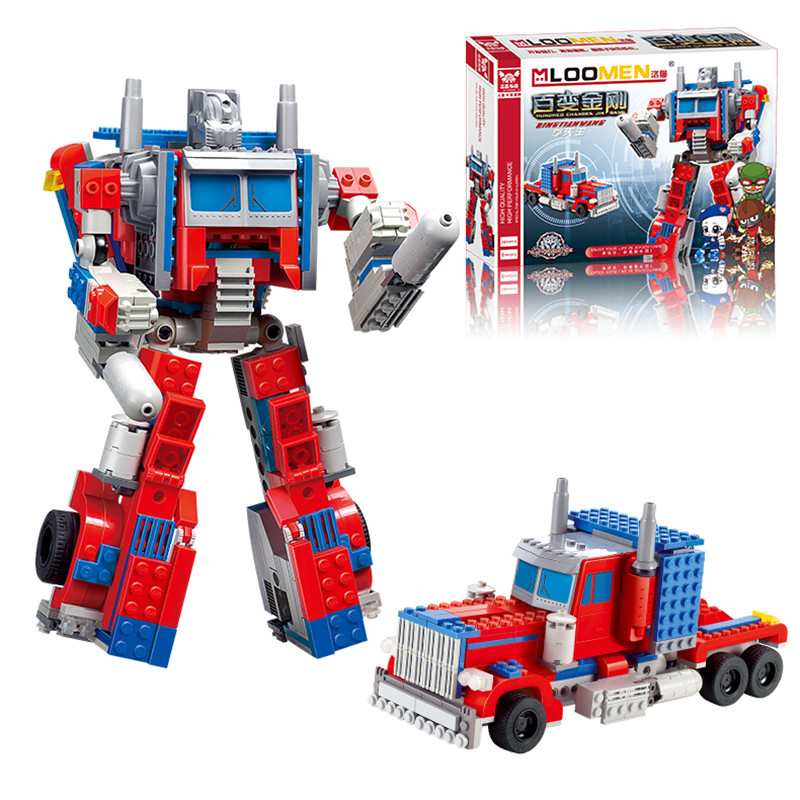 oyuncak Transformation Prime 384pcs/set Bricks Sets Enlighten Child Educational Toys for ...