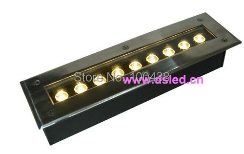 ФОТО High power Linear 9W LED underground light,good quality,EDISON Chip,DS-11-21-9W,110V/220VAC,IP67,Aluminum fitting + SSL cover