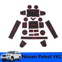 цена на Non-Slip Mat Interior Door Mats For Nissan Patrol Armada Y62 2010 2011 2012 2013 2014 2015 2016 2017 2018 Interior Accessories