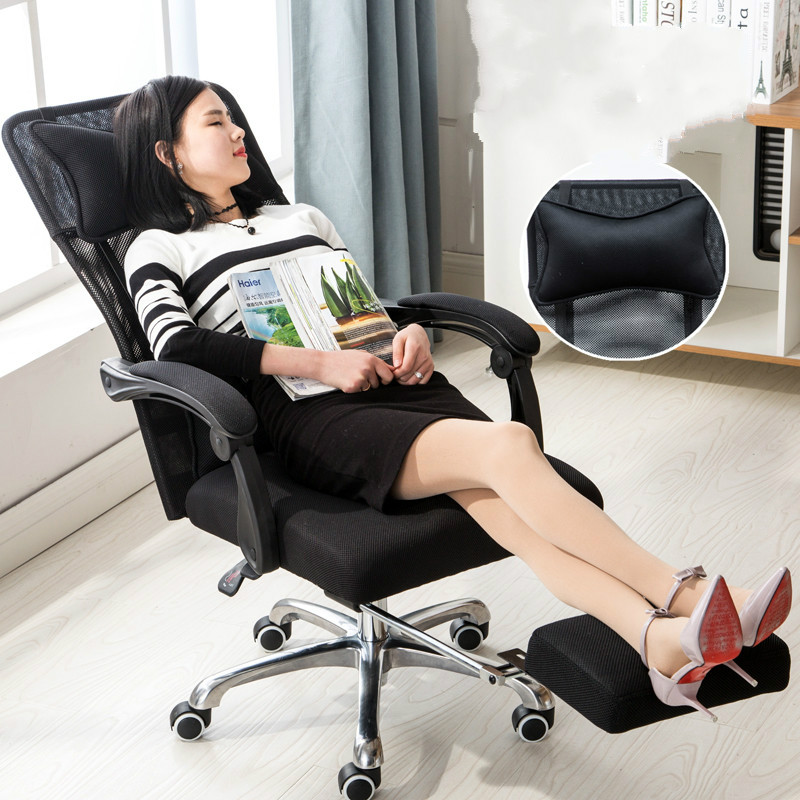 New Ergonomic Office Chair Reclining Swivel Mesh Cloth Computer Chair Lying Lifting Adjustable Two Back Cushions sedie ufficio 240337 ergonomic chair quality pu wheel household office chair computer chair 3d thick cushion high breathable mesh