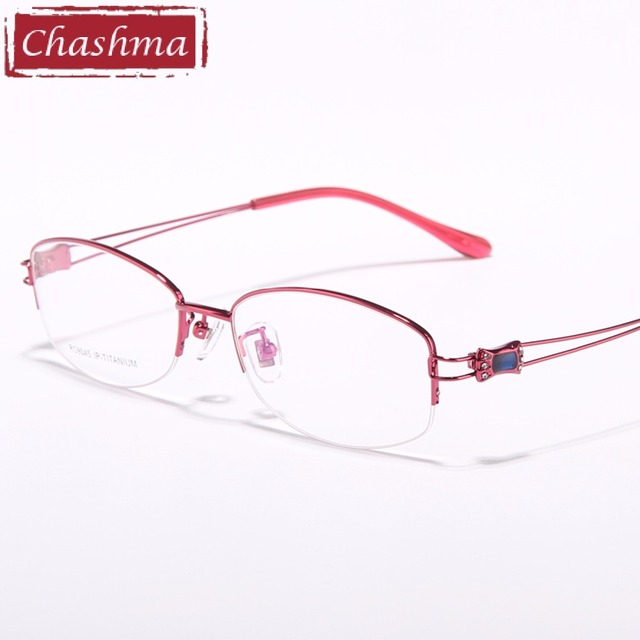 3b1389f766ab54 Chashma Marque Lunettes Femmes Lunettes En Titane De Luxe Top Qualité Cadres  Myopie Lunettes Cadre lunette