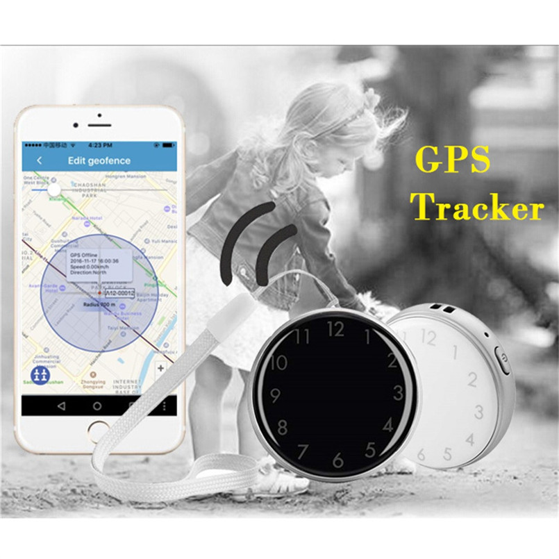 Mini Child GPS Tracker Pocket Watch A12 Adults Older Pocket Locator Clock Tracking Device SOS Alarm Voice Monitor 40MAY1507