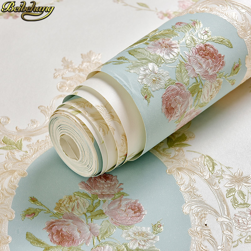 beibehang papel de parede 3D Textured European pastora small flowers wallpaper for walls 3 d Floral wall covering wall-paper